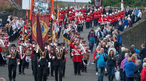 The annual Apprentice Boys of Derry parade