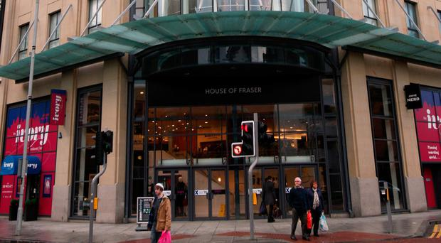 Belfast branch of the department store chain House of Fraser, which has said that it is set to fall into administration later today. Paul Faith/PA Wire