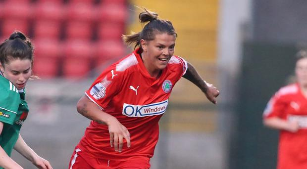 Billie Simpson has netted what may well be the best goal you'll see this season.