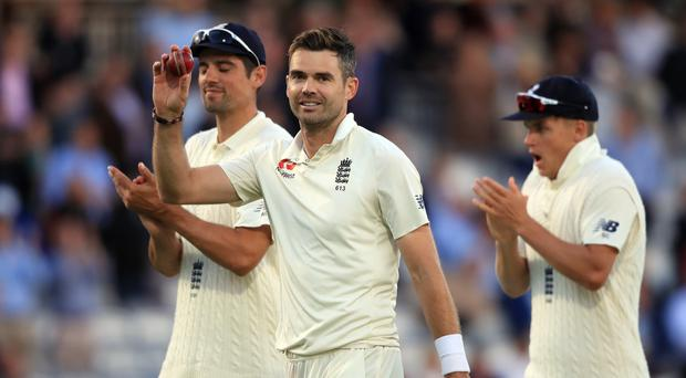 James Anderson led from the front for England (Adam Davy/PA)