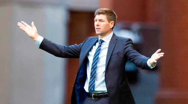 Shouting the odds: Steven Gerrard has urged his Rangers side to show their steel and make the Ibrox crowd proud