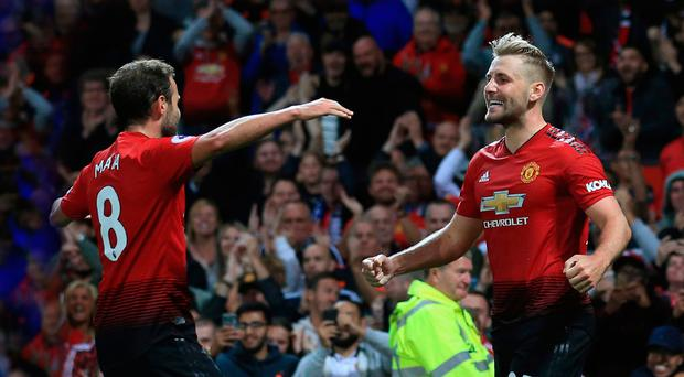 United front: Juan Mata hails late strike from Luke Shaw