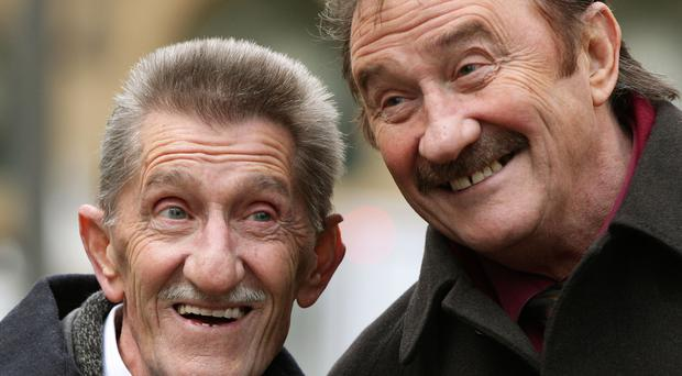 Rotherham dedicated their win to Barry Chuckle, left (Yui Mok/PA)