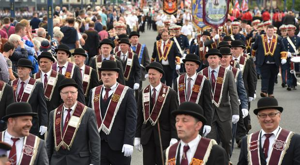 The Apprentice Boys of Derry anniversary of the ending of the 105 day siege of the city in 1689. Pic Trevor McBride