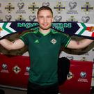 Carl Frampton can't wait to hear the Windsor roar. Pic Liam McBurney