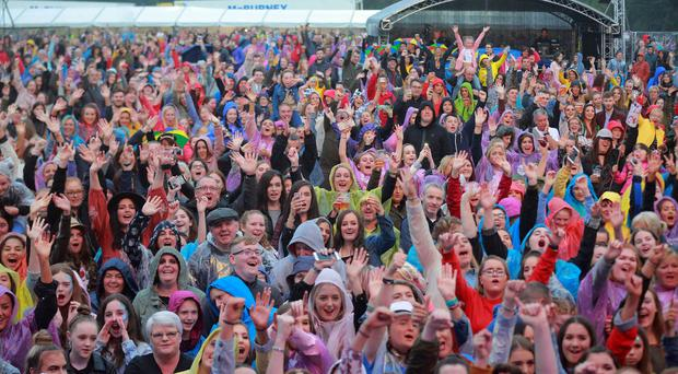 Fans as Olly Murs performs at Feile in west Belfast on August 11th 2018 (Photo by Kevin Scott for Belfast Telegraph)