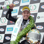 Top man: Peter Hickman poses with his second Man of the Meeting trophy at Dundrod