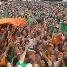 IRA flags were clearly visible in the crowd during The Wolfe Tones performance. Credit: Feilean Phobail.