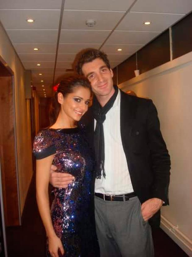 Paul Martin with singer Cheryl
