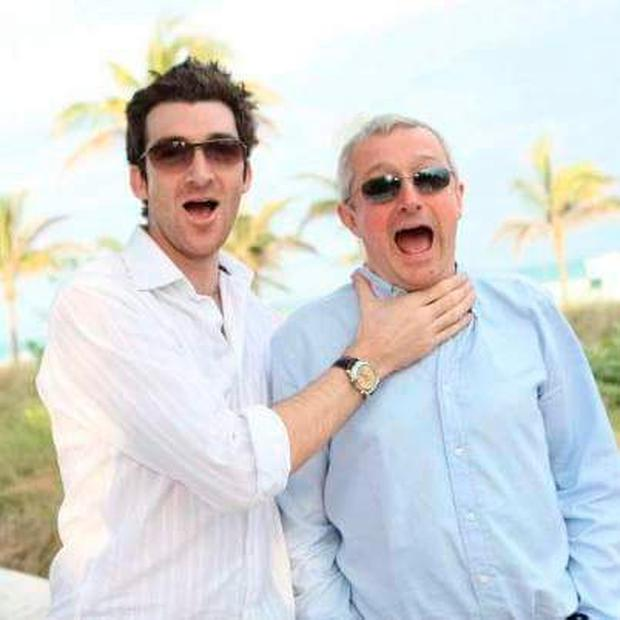 Paul Martin with former X Factor judge Louis Walsh