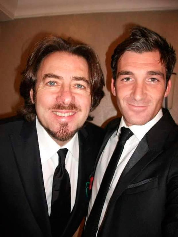 Paul Martin with TV presenter Jonathan Ross