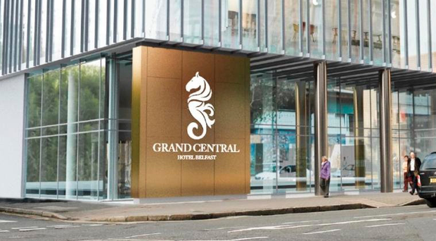 On the up: the Grand Central Hotel in Belfast