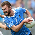 In action: Dublin ace Jack McCaffrey takes on Galway