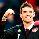 Wanted man: Kyle Lafferty and Rangers are keen on a reunion, but Hearts are holding out for £750k