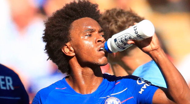 Big decision: Willian opted to stay at Stamford Bridge