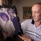 Kevin Skelton at home near Drumquinn with the only picture of himself and his wife Philomena