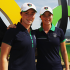 Twins Lisa (left) and Leona Maguire have recently turned professional and will tee it up at next year's Irish Open.
