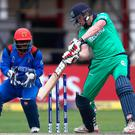 Clash: Kevin O'Brien batting against Afghanistan in March