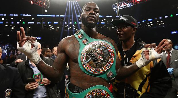 Up close: Deontay Wilder will be in Belfast to scout Tyson Fury
