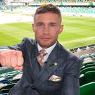 Fist bump: Carl Frampton checks out Windsor Park ahead of his big fight