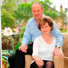Damian Green at home with wife Alicia