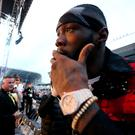 WBC world heavyweight champion Deontay Wilder at Windsor Park.