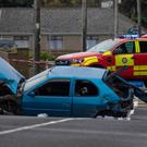 The scene of the fatal accident in Bundoran (North West Newspix)