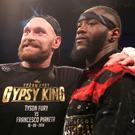 Making plans: Tyson Fury with WBC World Heavyweight Champion Deontay Wilder following the 30-year-old's triumph