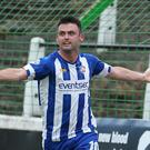 Coleraine striker Eoin Bradley netted Coleraine's late equaliser at the Oval earlier this season.