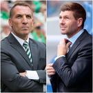 Celtic boss Brendan Rodgers and Rangers manager Steven Gerrard.