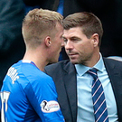 Learning curve: Ross McCrorie with boss Steven Gerrard