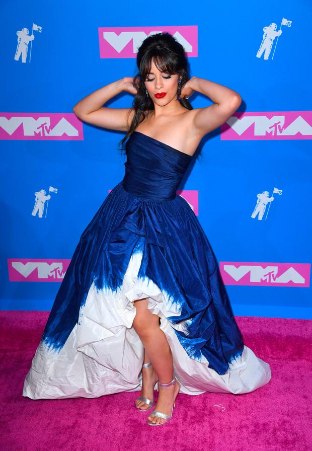 Camila Cabello attending the 2018 MTV Video Music Awards held at Radio City Music Hall in New York, USA. Pic: PA/PA Wire