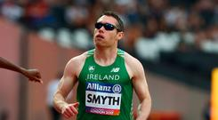 Easy victory: Jason Smyth won the 200 metres in Berlin