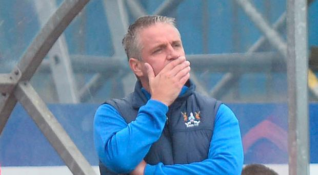 Frustrated: Colin Nixon is sure his Ards team have what it takes to get points on the board despite their poor start this term
