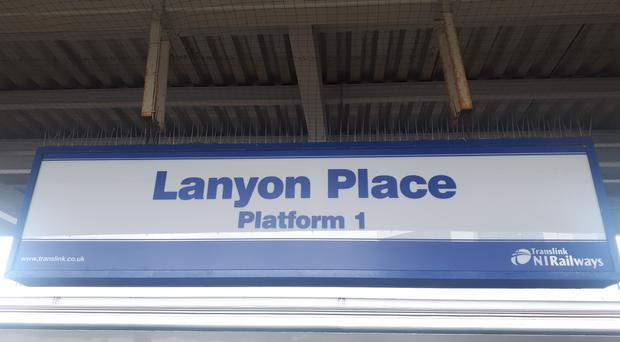 The Lanyon Place sign / Credit: Translink