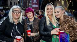 Music fans out to see Travis at CHSq, Belfast. Wednesday 22nd August 2018. Picture by Liam McBurney/RAZORPIX