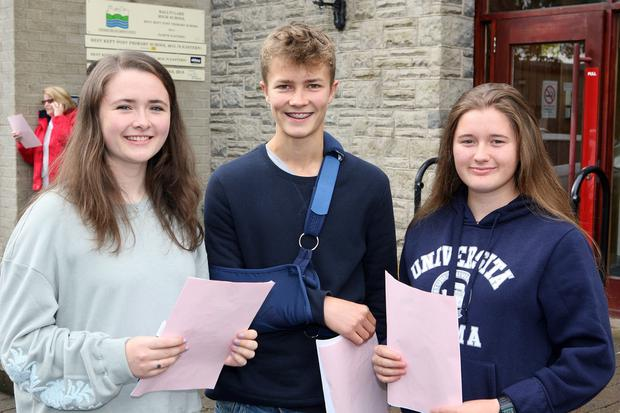 Mandatory Credit - Picture by Freddie Parkinson/Press Eye © Thursday 23 August 2018 Ballyclare High School GCSE Results Day Ellen Farquhar 7A* 4A, Ross Blackbourne 8A* 2A and Emily Skillen 8A* 3A