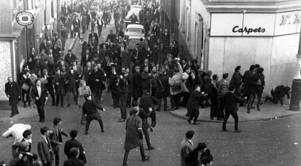 A civil rights march in Londonderry in 1968 (PA)
