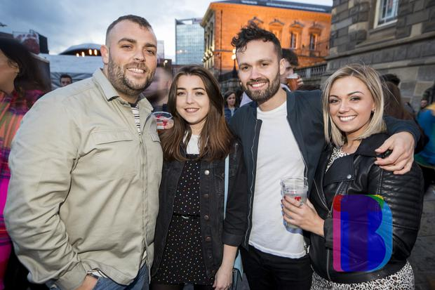 Music fans out to see Kodaline performing at Custom House Square, Belfast for CHSq presents. Thursday 23rd August 2018. Picture by Liam McBurney/RAZORPIX