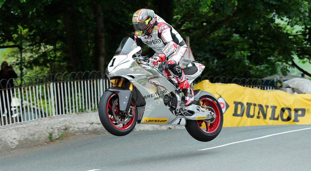 Leading way: John McGuinness posted the fastest lap in the Classic TT Senior session with 109.663mph