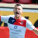 Double time: Ards' Jonny Frazer netted two goals