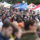 Thousands of people pack the streets of Ballycaslte for the Auld Lammas Fair. Pic by Peter Morrison