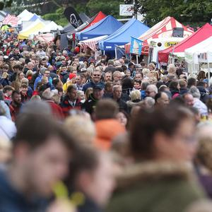 Thousands of people pack the streets of Ballycastle for the Auld Lammas Fair. Pic by Peter Morrison