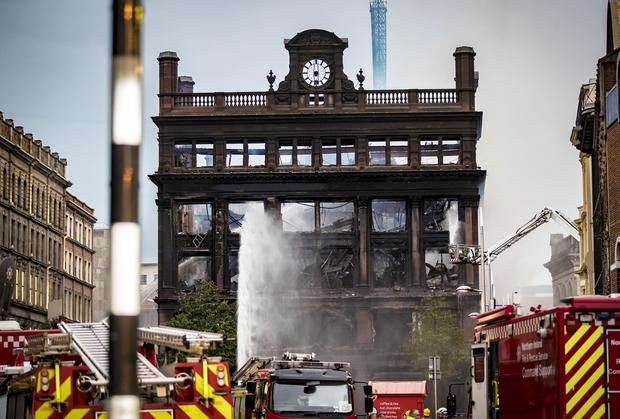 Firefighters deal with a major blaze at Primark in Belfast on August 28th 2018 (Photo by Kevin Scott for Belfast Telegraph)