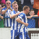 Late show: Ian Parkhill hit the winner for Coleraine