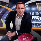Screen test: Tommy Bowe in his new role as presenter of eir Sport's Guinness PRO14 coverage, which starts tonight with Leinster's visit to Cardiff