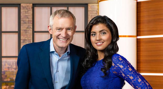Jeremy Vine with fellow presenter Storm Huntley