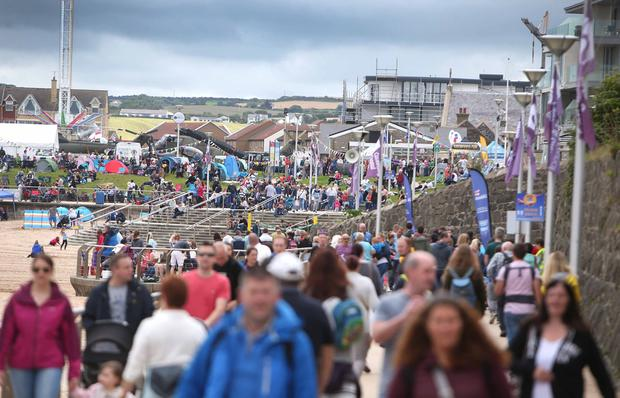 Huge crowds in Portrush during Airwaves 2018. Pic Steven McAuley/McAuley Multimedia