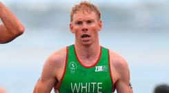 Russell White has matched Ireland's best ever finish at a World Cup triathlon.