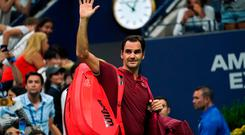 Roger Federer lost out to Australian John Millman in the last 16 of the US Open.